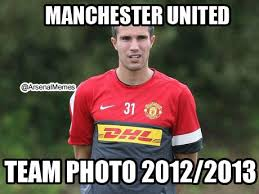 "Arsenal Memes on Twitter: ""Manchester United team photo 2012/2013 ... via Relatably.com"