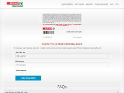 Spar Hypermarkets | Gift Card Balance Check | Balance Enquiry ...
