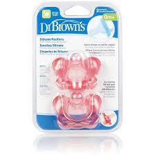 Constructed of soft <b>silicone</b>, Dr. Brown's <b>pacifiers</b> feature a one ...