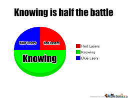 Knowing Is Half The Battle by x9_sly - Meme Center via Relatably.com