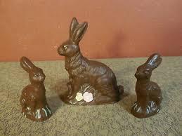 "3 Vintage Chocolate <b>Bunny</b> Easter <b>Rabbit</b> Home <b>Decoration 4</b>"" & 2 1 ..."