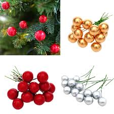 <b>12Pcs Christmas</b> Tree Decoration <b>Simulation</b> Cherry <b>Christmas</b> ...