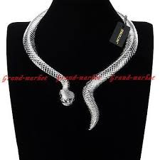<b>Women Jewelry</b> Snake <b>Chain Choker</b> Chunky Statement Bib ...