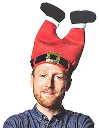 <b>Funny</b> Holiday Hat <b>Novelty</b> Red Pants Cap <b>Santa Claus</b> Legs Pants ...