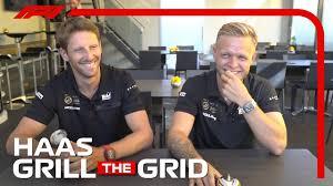 Haas' Romain Grosjean and Kevin Magnussen! | <b>Grill</b> The <b>Grid</b> 2019 ...