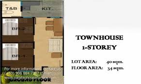 Rowhouses at A a Breeze   Pag ibig rent to own houses for Sale    Row House Floor Plan▲