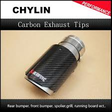 2019 <b>Inlet 63mm Outlet</b> 89mm Car Styling Akrapovic Carbon ...