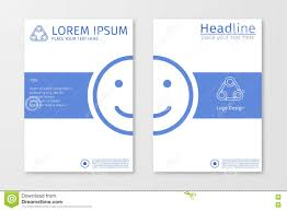 blue annual outline report business brochure flyer design template blue annual outline report business brochure flyer design template vector emoji or smile