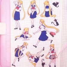 <b>9 pcs</b>/<b>set Sailor</b> Moon Tsukino Usagi Scrapbooking <b>Stickers</b> ₱99 1 ...
