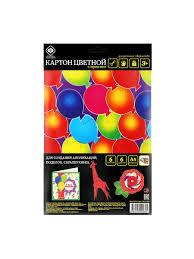 <b>Картон</b> цветной, с многоцветной печатью, 6 л/6 цв <b>Фабрика</b> ...