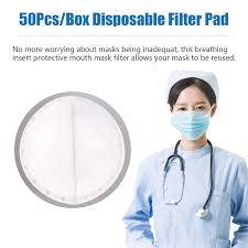 <b>100pcs Disposable Face Masks</b> Replacement Filtering Pad PM2.5 ...
