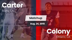 """Carter HS Football Video """"Matchup: Carter <b>High</b> vs. <b>Colony 2018</b> ..."""
