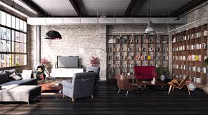 f formidable living room decoration ideas with brick wall design and large wooden wall bookshelf plus cool hanging lamp as well as modern furniture set on brick living room furniture