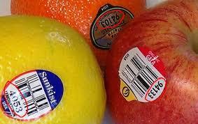 نتيجة بحث الصور عن the sticker of fruit has a PLU code
