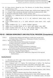 rashtrasant tukadoji maharaj nagpur university revised syllabus 67 vk kqfud hkkjrh jktuhfrd fpuru mkw oh ih