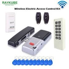RAYKUBE Access Control Kit Electric Strike Lock + <b>Metal Case</b> ...