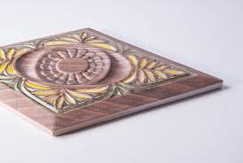 colour decor  wall mounted tile ceramic matte textured ethnic warm colour decor bou