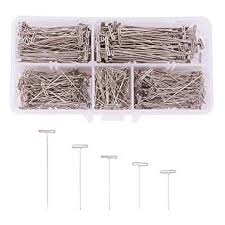 PandaHall Elite 500pcs 5 Size Stainless Steel <b>T</b>-<b>Pins</b> Sewing <b>Craft</b> ...