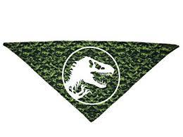 Jurassic World Logo Bandana for Dogs, <b>Green Camo</b> | Dinosaur ...