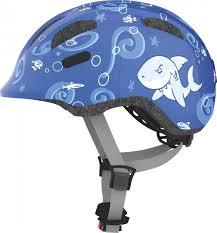 <b>Шлем</b> защитный <b>Abus Smiley 2.0</b> Акулы, синий, размер M (50-55)