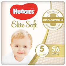 <b>Huggies подгузники Elite</b> Soft 5 (12-22 кг) 56 шт. — купить по ...