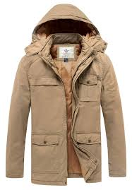 WenVen <b>Men's Thickened Cotton</b> Quilted Casual Winter Jacket with ...