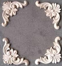 24pcslot 100100thick8mm furniture architectural appliques corners rubber wood flower unpainted appliques for furniture