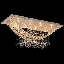 <b>Modern</b> Square Ceiling Crystal <b>Chandeliers Lighting</b> With 8 <b>Lights</b> ...