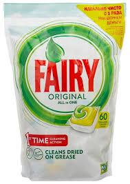 <b>Fairy Original</b> All in 1 <b>капсулы</b> (лимон) для посудомоечной машины
