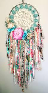 Handmade <b>boho dream</b> catcher for girls room or nursery. Pink coral ...