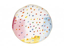 <b>Тарелка закусочная Брызги</b> красок без инд.упаковки Easy Life ...