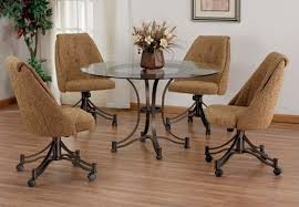 casual dining chairs with casters: