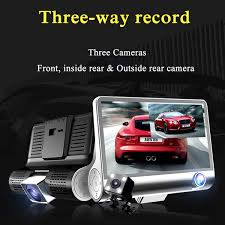 <b>3 Lens</b> Car DVR Camera 4 inch Screen 1080P Full HD ...