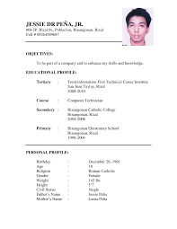 resume form sample resume form sample 0929