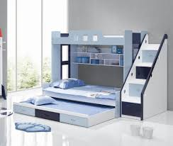 view in gallery blue and white bunk beds with stairs children bunk beds safety