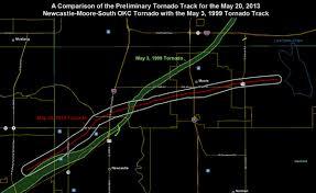 Moore OK Tornado Paths