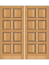 brown solid wood double door panel
