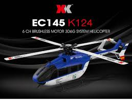 Online Shop <b>Original XK</b> K124 EC145 <b>6CH</b> Brushless motor 3D 6G ...