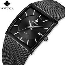 <b>WWOOR Men</b> Watches <b>Top Brand</b> Luxury Square Clock <b>Men</b> Quartz ...