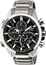 "smart watches men s ladies bluetooth watches watch shop comâ""¢ mens casio edifice time traveller bluetooth hybrid smartwatch alarm chronograph watch eqb 500d 1aer"