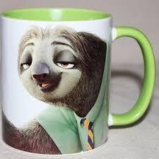 2019 New Disney Mr Sloth Cartoon Water Cup Coffee Tea Milk ...