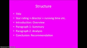 how to write a film review part structure how to write a film review part 3 structure