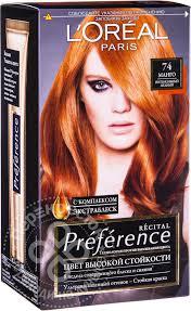 Купить <b>Краска для волос Loreal</b> Paris recital Preference 74 Манго ...