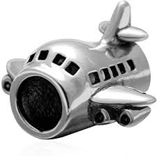 Airplane Charms 100% Authentic 925 Sterling Silver ... - Amazon.com