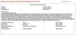 manager employment contracts   manager fish hatchery