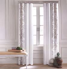 Hidden Tab Curtains Tommy Hilfiger Border Floral Paisley Scroll Window Curtains Drapes