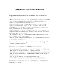 personal loan agreement template sample to write perfect simple loan agreement template written by ryezalieve a part of under other templates