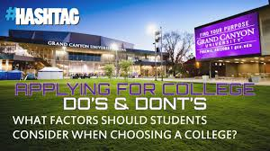 factors students should consider when choosing a college factors students should consider when choosing a college