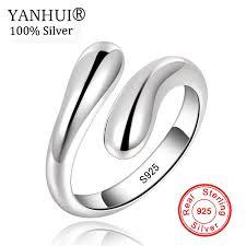 YANHU <b>New Arrivals</b> 100% Original <b>925</b> Sterling <b>Silver</b> Ring Size ...