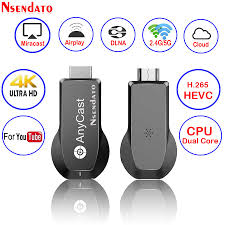 <b>Anycast</b> M100 2.4G/5G <b>4K Miracast Any Cast</b> Wireless DLNA ...
